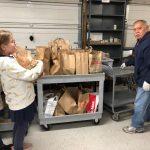 holy cross students deliver 600 pounds of food